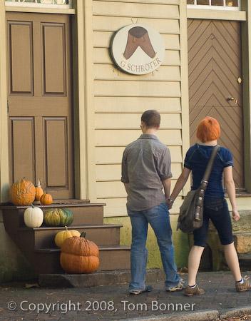 Strolling through Old Salem Village in North Carolina