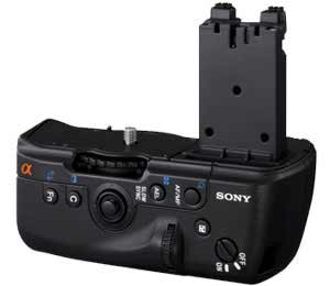 controls on the new Sony Alpha vertical grip