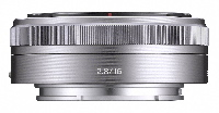 No it isn't a teleconverter -- it's is the NEX 16mm low profile lens. The smallest and fastest of the NEX lenses, it also has the widest angle of view.