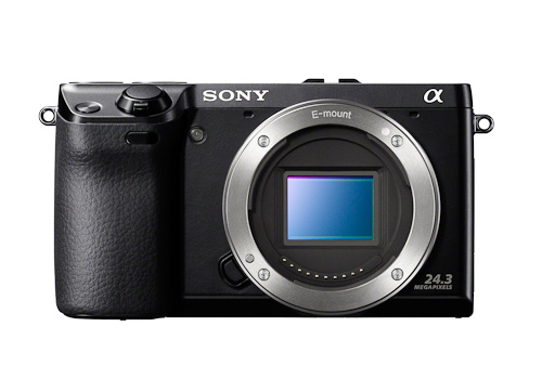 Front view of the new 24mp NEX-7