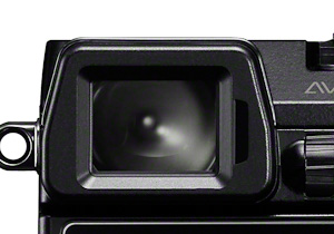 Close-up of OLED Viewfinder