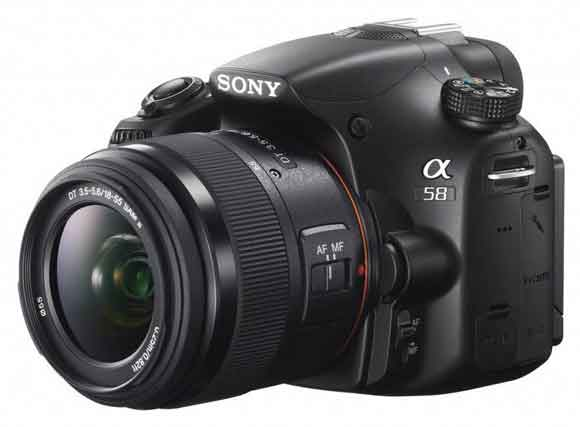 Sony Alpha A58 New Low Cost 20 MP SLT