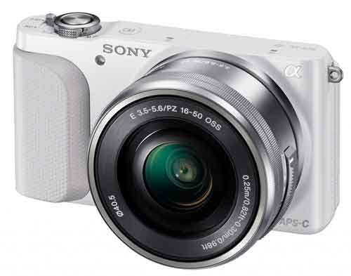 NEX-3N in available white body finish