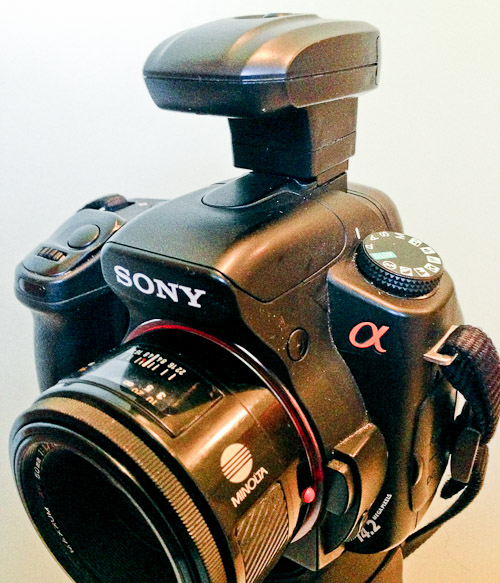 Sony Alpha with Wireless Radio Flash Trigger