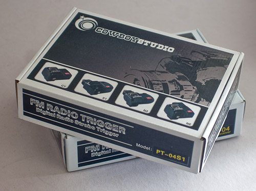 Boxed set of Cowboy Studio Wireless Flash Triggers