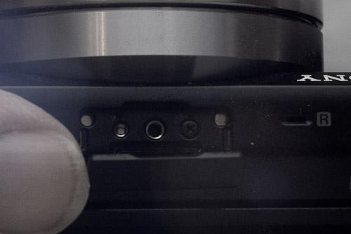 Sony NEX Accessory Port
