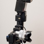 Off camera flash rig on Sony NEX 5n