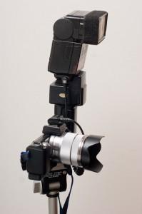 Off camera flash rig on Sony NEX 5n
