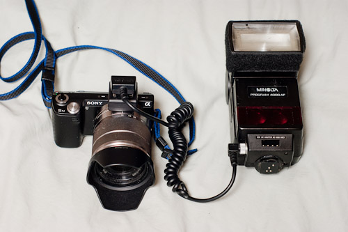 NEX 5n with remote flash unit
